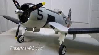 Hangar 9  F4U Corsair 60CC Part 3