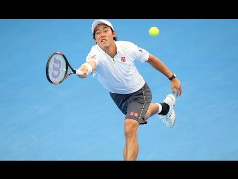 Bernard Tomic v Kei Nishikori highlights (quarterfinal) - Brisbane International 2015