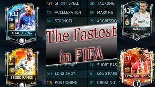 How Much Faster is Gareth Bale than Sergio Ramos? The FIFA Mobile 18 Speed Test!