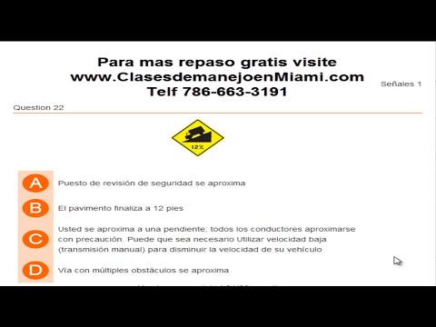 REPASO PARTE #1 PARA EXAMEN TEORICO DE LICENCIA DE MANEJAR EN FLORIDA PARTE #1