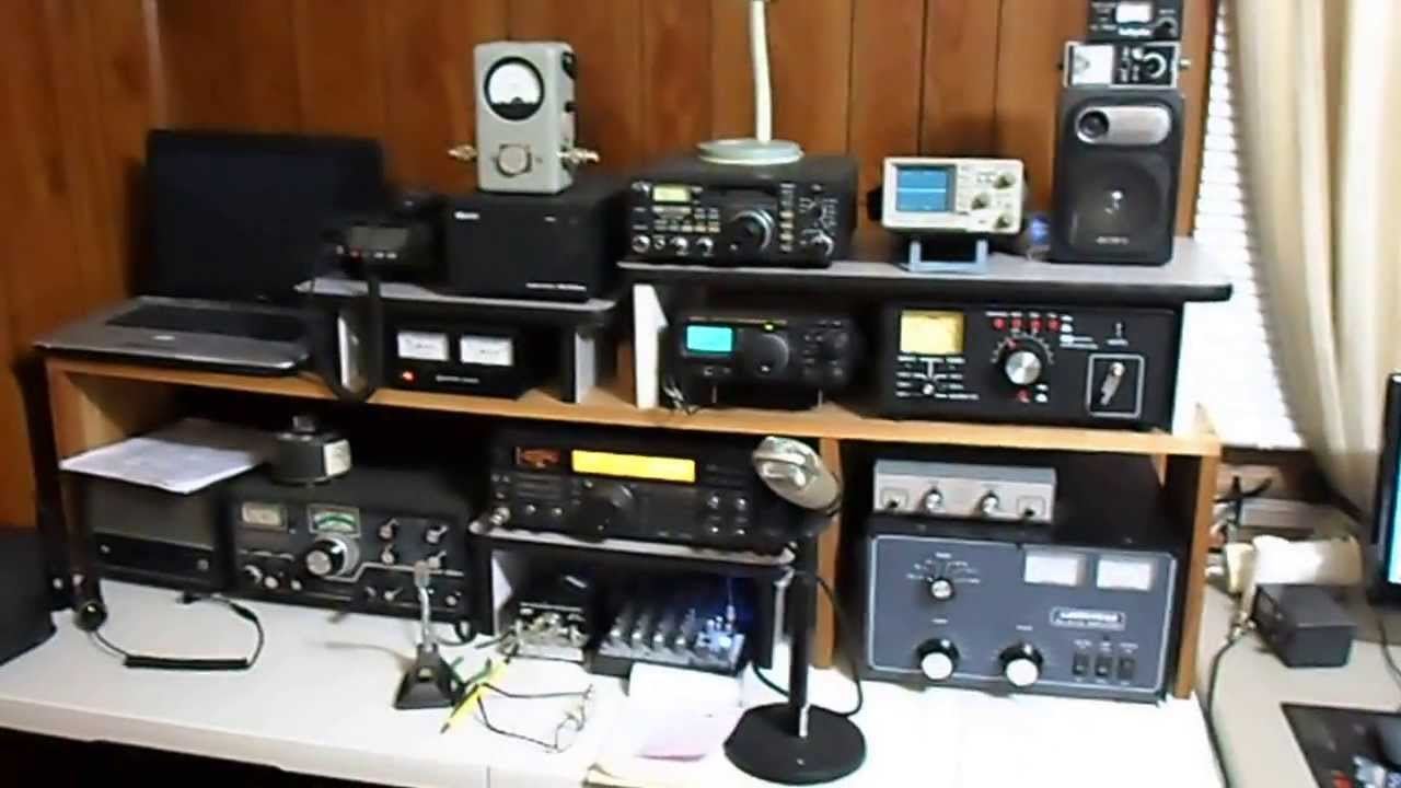 New electronics workbench and ham radio station work in for Classic house radio station