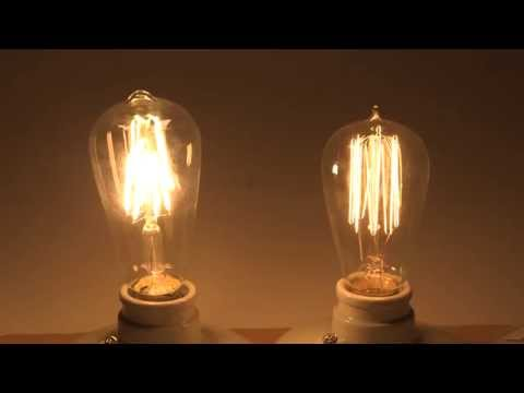 Energy Saving With LED Filament Bulbs Comparison With Edison Incandescent