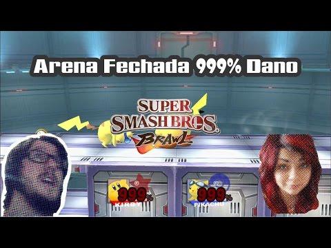 SSB Brawl Arena Fechada 999% de Dano