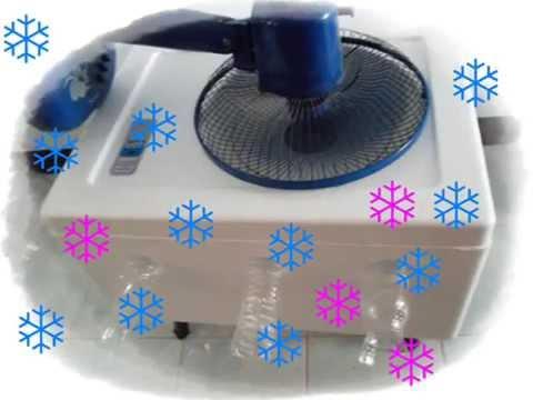 ice cold air DIY - การทำแอร์น้ำแข็งจากกล่องโฟม