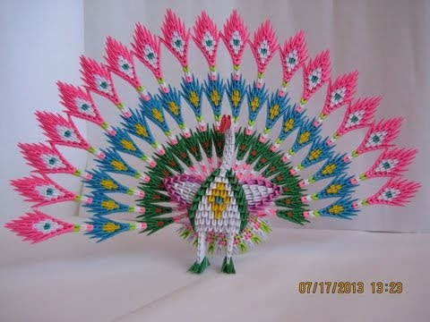 how to make peacock tail with paper
