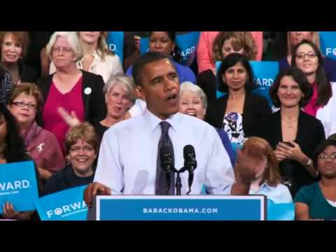 "President Obama in Fairfax, Virginia: ""We're Moving Forward."" - October 5, 2012"