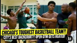 Chicago's TOUGHEST Team?! City's Best Backcourt Ace Wolf, Marcus Watson BATTLE! Morgan Park Open Gym
