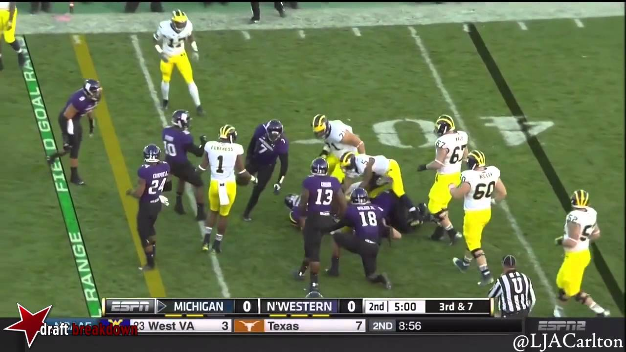 Ibraheim Campbell vs MIchigan (2014)
