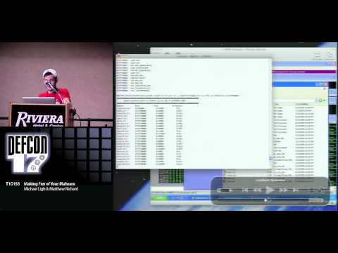 Michael Ligh and Matthew Richard - Making Fun of your Malware