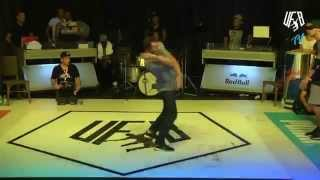 underground funky base vol 8 world final 1 vs 1 b-boy semi-final (teembo vs okan)