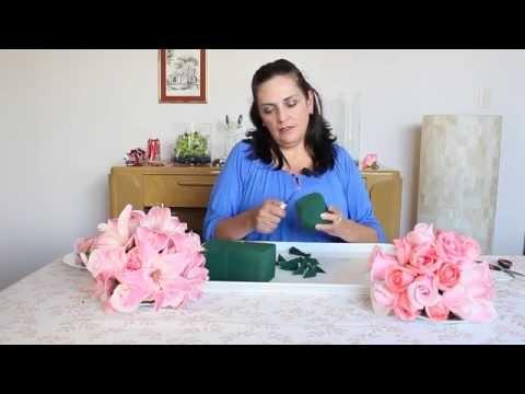 Como hacer una esfera colgante con flores