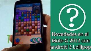 Grabar pantalla, gestion usuarios, anécdotas Moto G y android 5(cinco) Lollipop