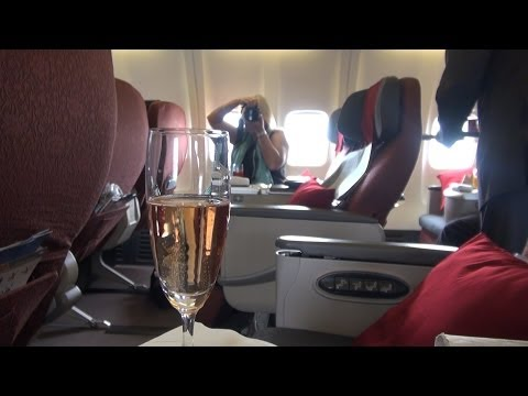 Garuda Business Class Eat Drink + be Kerry food review
