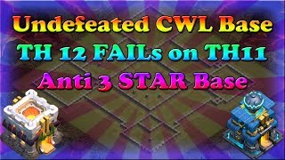 Clash of Clans CWL Base | Undefeated for 7 CWL WARs | Anti all round Troops