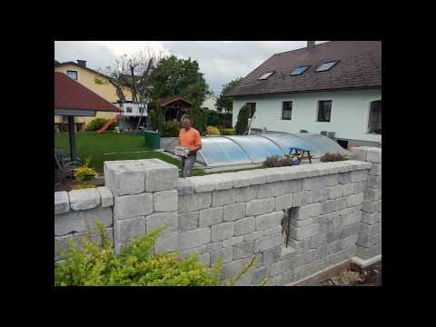 Betonsteinmauer Selber Bauen - Steinmauer Anleitung