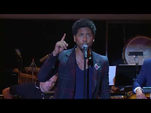 Jussie Smollett performing