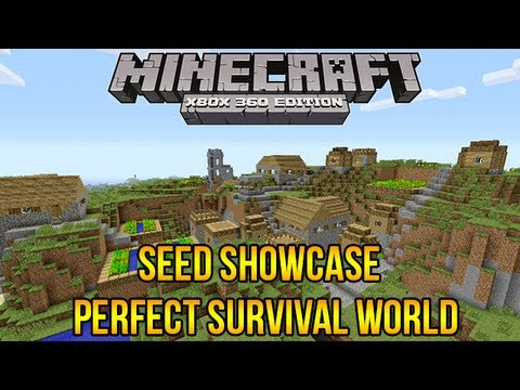 Minecraft Xbox 360: Perfect Survival Seed Showcase EPIC