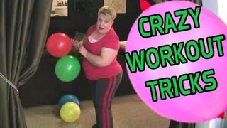 BBW Mom does Freaky Workout Tricks