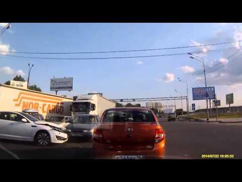 Авария в Воронеже 22 07 2014