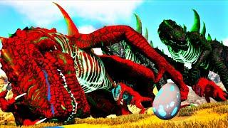 Os Alpha Black GodZillas Destruíram Minha Família Red! Dinossauros Ark Survival Evolved (PT/BR)