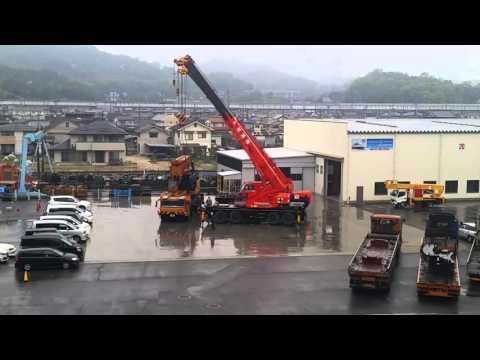 Mobile crane operation...in fukuyama japan.
