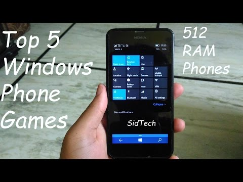 Top 5 Windows Phone Games ( 512 RAM )