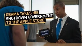 Obama Takes His Shutdown Government to the Apple Store