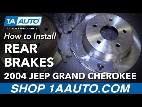 How to Install Replace Rear Brakes Pads Rotors 1999-04 Jeep Grand Cherokee