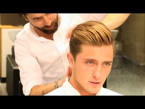 Men´s hairstyles 2016 [] Comb Over Undercut Pompadour by Kochi