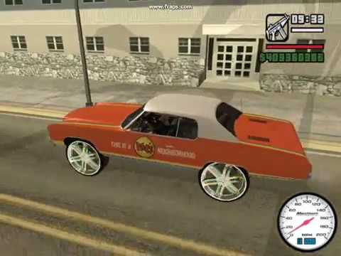 GTA SAN ANDREAS CHEVY DONK MOD PART 7 Video