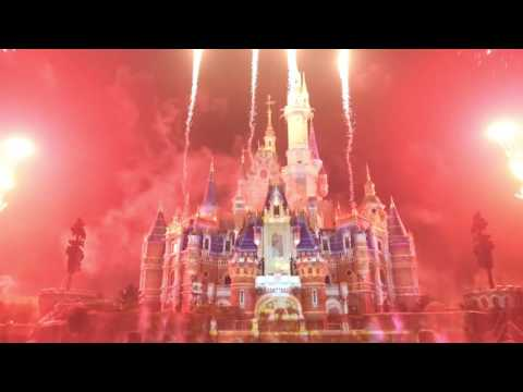Shanghai Disneyland Ignite the Dream Water Fireworks Show full length May 2016 World of Color