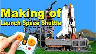 Countdown Lego Space Shuttle - Making of