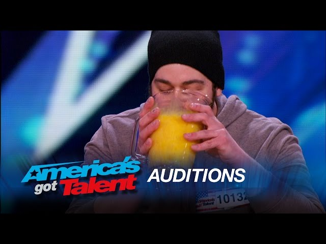 Patrick Bertoletti: Judges Help Extreme Eater Devour 120 Raw Eggs - America's Got Talent 2015