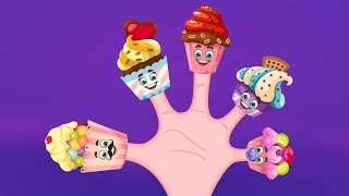 The Finger Family Cup Cakes Family Nursery Rhyme | Cup Cakes Finger Family Songs