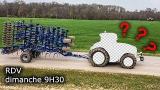 Je déchaume avec un tracteur + de 400 Ch !