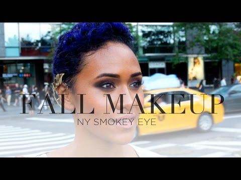 FALL MAKEUP TUTORIAL: Smokey Eye Nude Lip