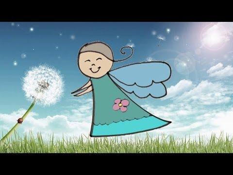 Видео как нарисовать ангела для детей