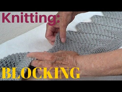 How to Block Your Knits - Knitting Blocking