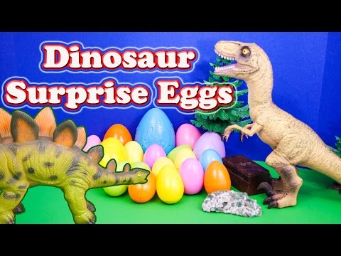 Surprise Eggs Dinosaur Surprise Eggs Candy And Toys A Surprise Egg Youtube Video video