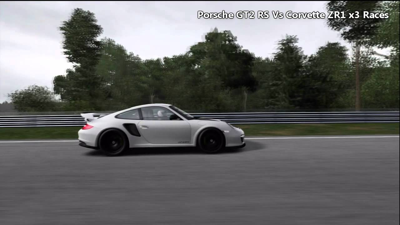 fm4 porsche gt2 rs vs corvette zr1 x3 races youtube. Black Bedroom Furniture Sets. Home Design Ideas
