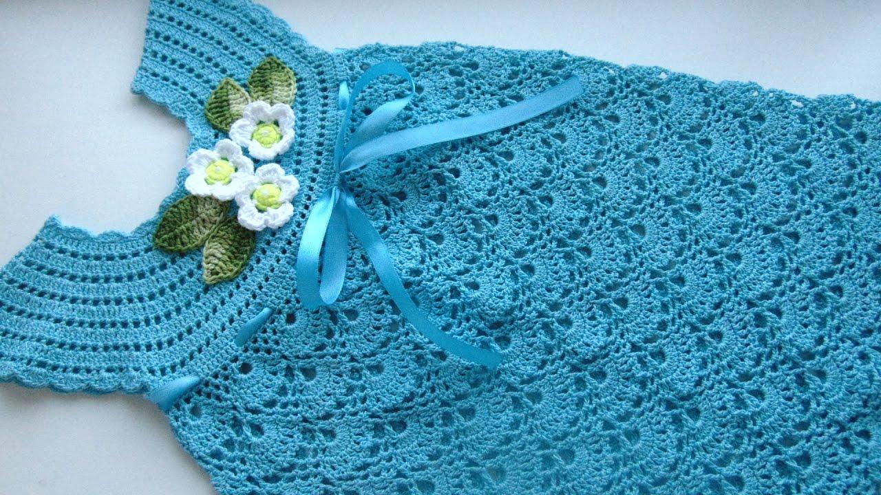 Вязание крючком сарафан для девочки в ютубе