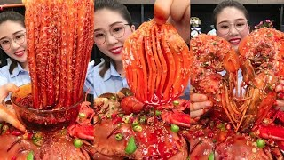 Spicy and Live Mukbang Eating Seafood ASMR  Delicious Octopus, Lobster | Chinese food #1 🐙
