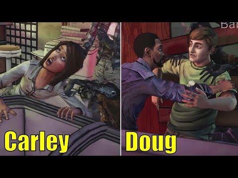 Lee Saving Doug vs Saving Carley -All Choices- The Walking Dead