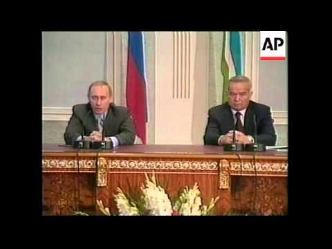 UZBEKISTAN: RUSSIAN PRESIDENT PUTIN VISIT