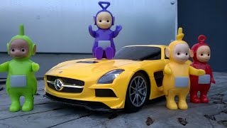 TELETUBBIES and MERCEDES SLS AMG / Fun for Kids
