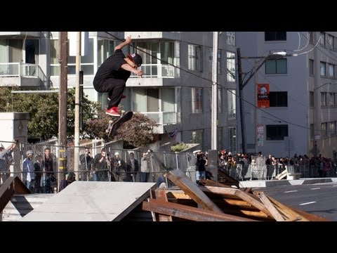 Ryan Sheckler Winning Run Skate Streetstyle - Dew Tour San Francisco 2012