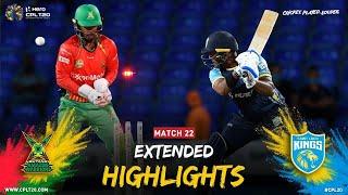 Extended Highlights | Guyana Amazon Warriors vs Saint Lucia Kings | CPL 2021