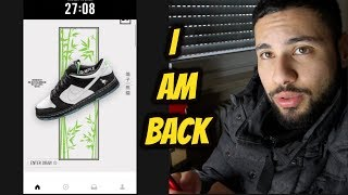 *I AM BACK* Nike SB Dunk Panda Pigeon ON THE SNEAKRS APP!!!