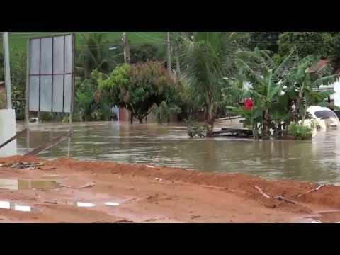 Enchente na cidade de São Gabriel da Palha Es