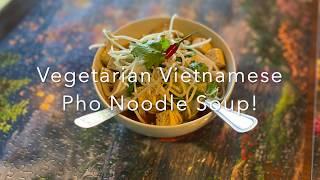 Vegetarian Vietnamese Pho Noodle Soup